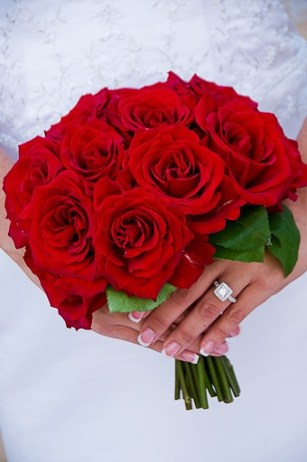 the romantic rose bouquet is made with all roses and no filler flowers you may also request a premium bridal bouquet starting at 260